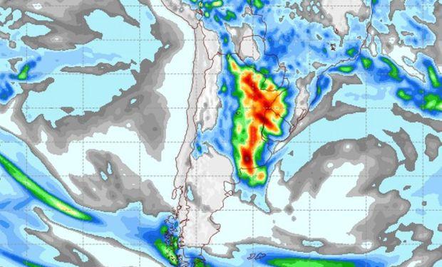 Pronóstico de lluvias para el domingo 9 de abril.