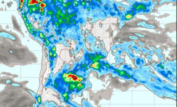 Pronóstico de precipitaciones para el domingo 8 de enero.