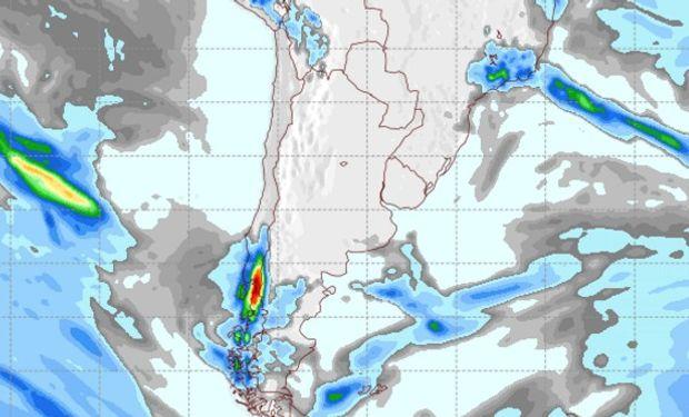 Pronóstico de precipitaciones para el domingo 18 de agosto.