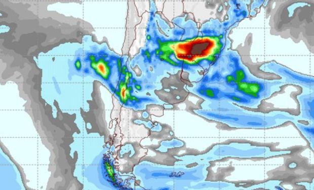 Pronóstico de lluvias para el domingo 16 de octubre.