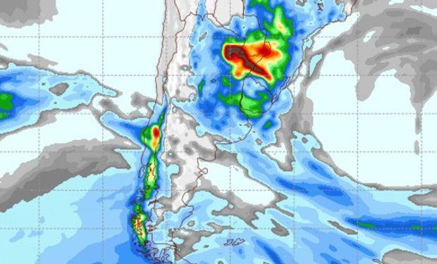 Pronóstico de lluvias para el jueves 13 de octubre.