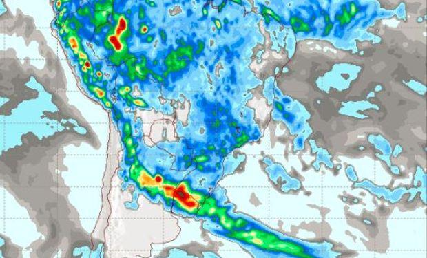 Pronóstico de precipitaciones para el jueves 5 de enero.