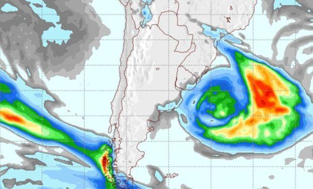 Pronóstico de precipitaciones para el jueves 15 de agosto.