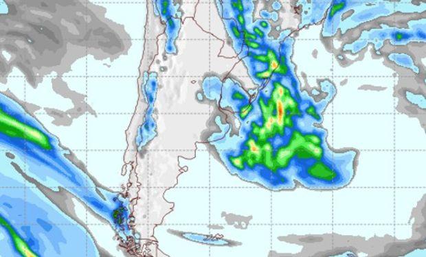 Pronóstico de precipitaciones para el miércoles 15 de febrero.