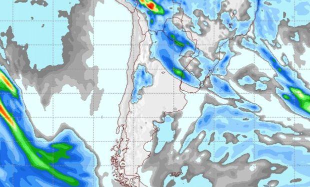 Pronóstico de precipitaciones para el sábado 3 de septiembre.