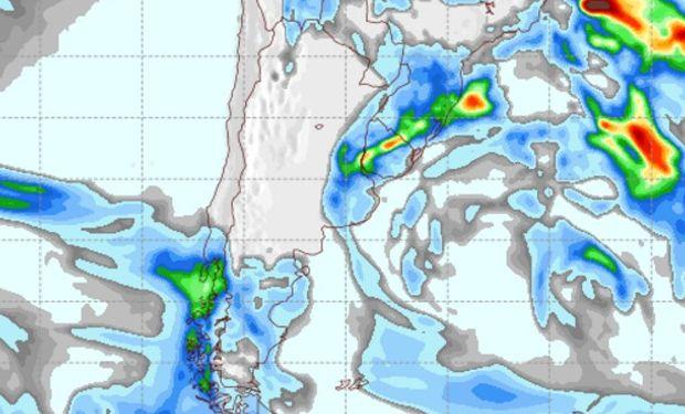 Pronóstico de precipitaciones para el jueves 6 de octubre.