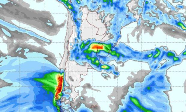 Pronóstico de precipitaciones para el sábado 18 de febrero.