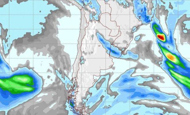 Pronóstico de precipitaciones para el viernes 2 de septiembre.
