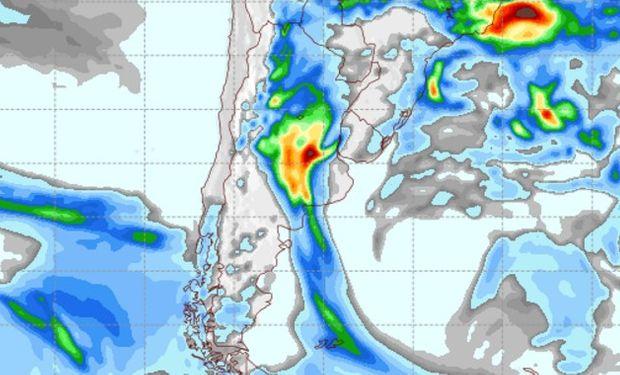 Pronóstico de precipitaciones para el miércoles 5 de octubre.