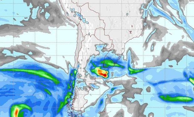 Pronóstico de lluvias para el 8 de agosto.