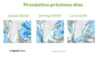 Hasta mediados de mayo, qué dice el pronóstico de lluvias y temperaturas