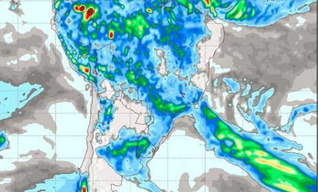 Pronóstico de precipitaciones para el martes 3 de enero.
