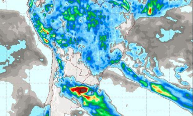 Pronóstico de precipitaciones para el miércoles 4 de enero.
