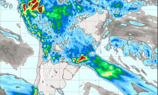 Pronóstico de precipitaciones para el sábado 7 de enero.