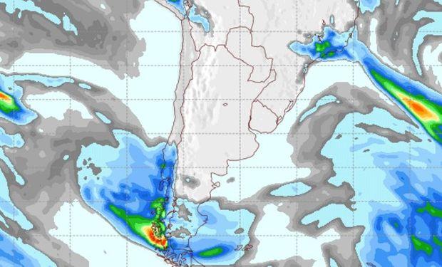 Pronóstico de precipitaciones para el sábado 17 de agosto.