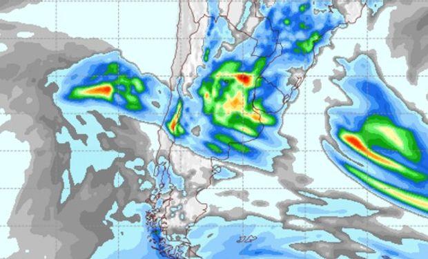 Pronóstico de lluvias para el sábado 15 de octubre.
