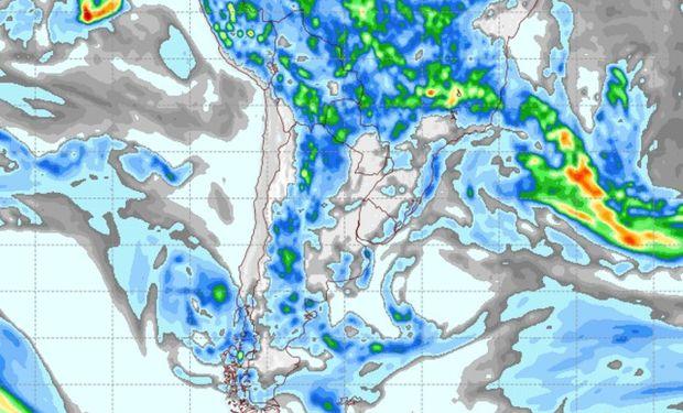 Pronóstico de lluvias para el 28 de marzo.