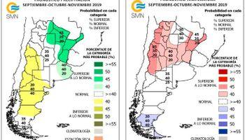 Las lluvias del próximo trimestre, según el Servicio Meteorológico Nacional