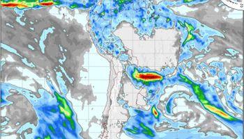 Probabilidad de lluvias en el NOA y NEA