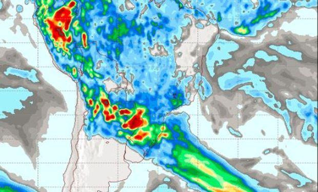 Pronóstico de precipitaciones para el viernes 6 de enero.