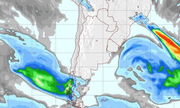 Pronóstico de precipitaciones para el viernes 16 de agosto.