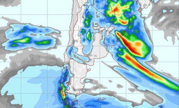 Pronóstico de lluvias para el viernes 14 de octubre.