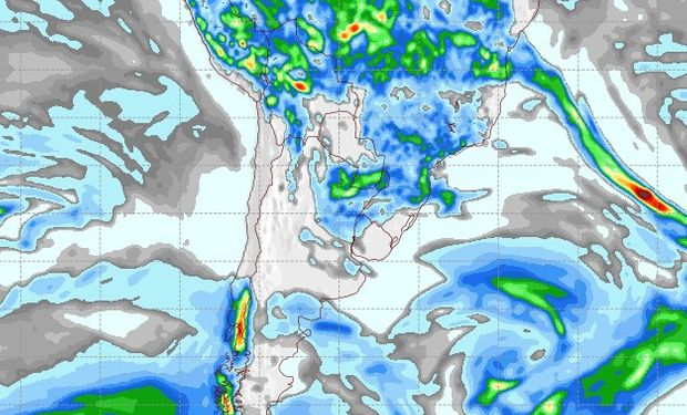 Pronóstico de precipitaciones para el 15 de marzo.