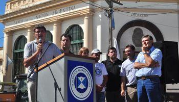 Protesta del campo contra las trabas del Banco Nación