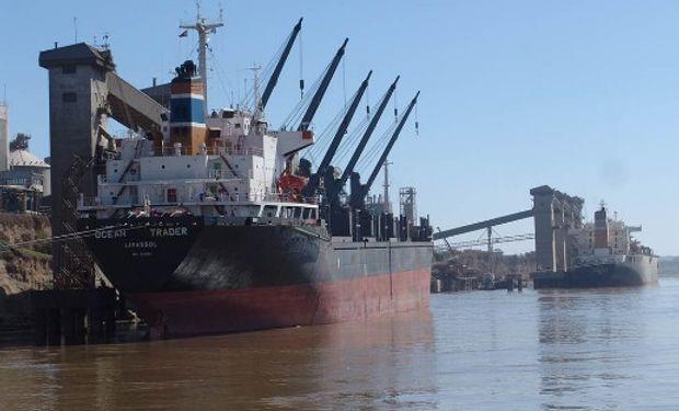 Paro en el puerto de Rosario por la muerte de un operario.