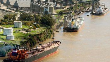 Operatoria normal en los puertos cerealeros durante el primer día de cuarentena