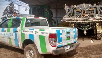 Clausuran una pulverizadora en Córdoba por no tener receta fitosanitaria