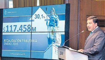 La recaudación de enero subió 30%, a $ 117.458 millones