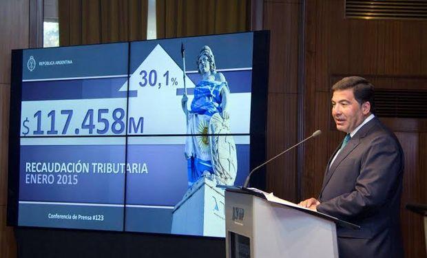 """""""Se observa un fuerte sostenimiento de la actividad económica con una evolución sumamente positiva en varios de los segmentos tributarios"""", dijo Ricardo Echegaray al anunciar ayer datos."""