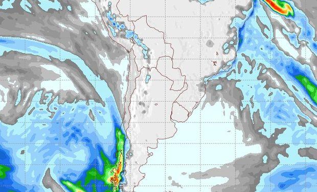 Pronóstico de lluvias para el 4 de julio.