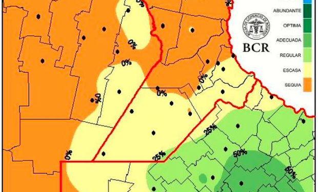 La zona núcleo y el noroeste argentino necesitan hasta 100 milímetros para recomponer los perfiles del suelo
