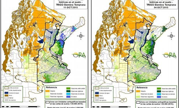 Reservas de humedad: se mantiene el estado adecuado