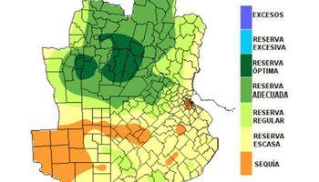 Las reservas de humedad continúan drenando