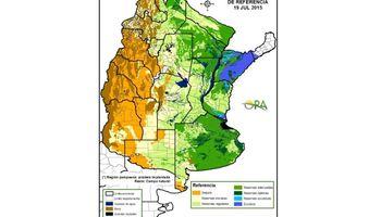 Reservas de humedad: escasas lluvias acentúan déficit