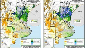 Las reservas hídricas para maíz se clasifican principalmente como escasas