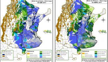 Excesos hídricos predominan sobre el área sojera argentina