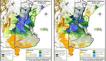 Persisten los excesos hídricos sobre regiones del núcleo productivo