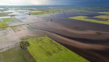 Se podría agravar el estado de los campos bajos anegados