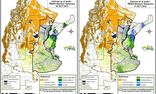 Reservas de humedad en trigo: continúa el estado regular