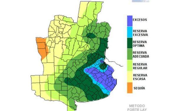 Clima favorable para las reservas de humedad en el este