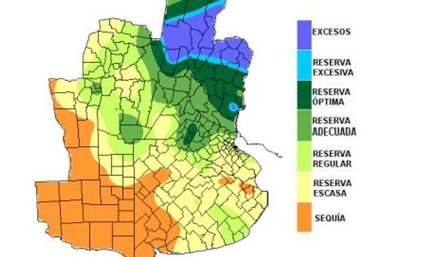 Disparidad en las reservas de humedad
