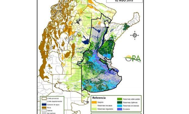 Reservas de humedad: lluvias trajeron un alivio