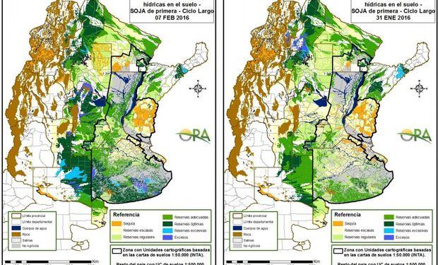 Reservas de humedad: zona núcleo sojera mejora su condición hídrica