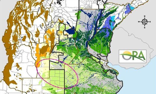 Para la soja de primera, en zonas de Buenos Aires y La Pampa el agua disponible es escasa