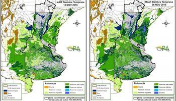 Reservas de humedad irregulares en la región pampeana
