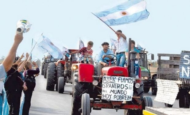 Hace 7 años, productores de todo el país se juntaban sobre las rutas para manifestarse contra la Resolución 125.